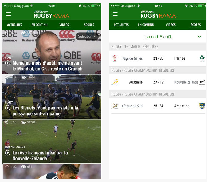 Dossier applications iphone et ipad la coupe du monde de rugby 2015 - Score coupe du monde de rugby 2015 ...