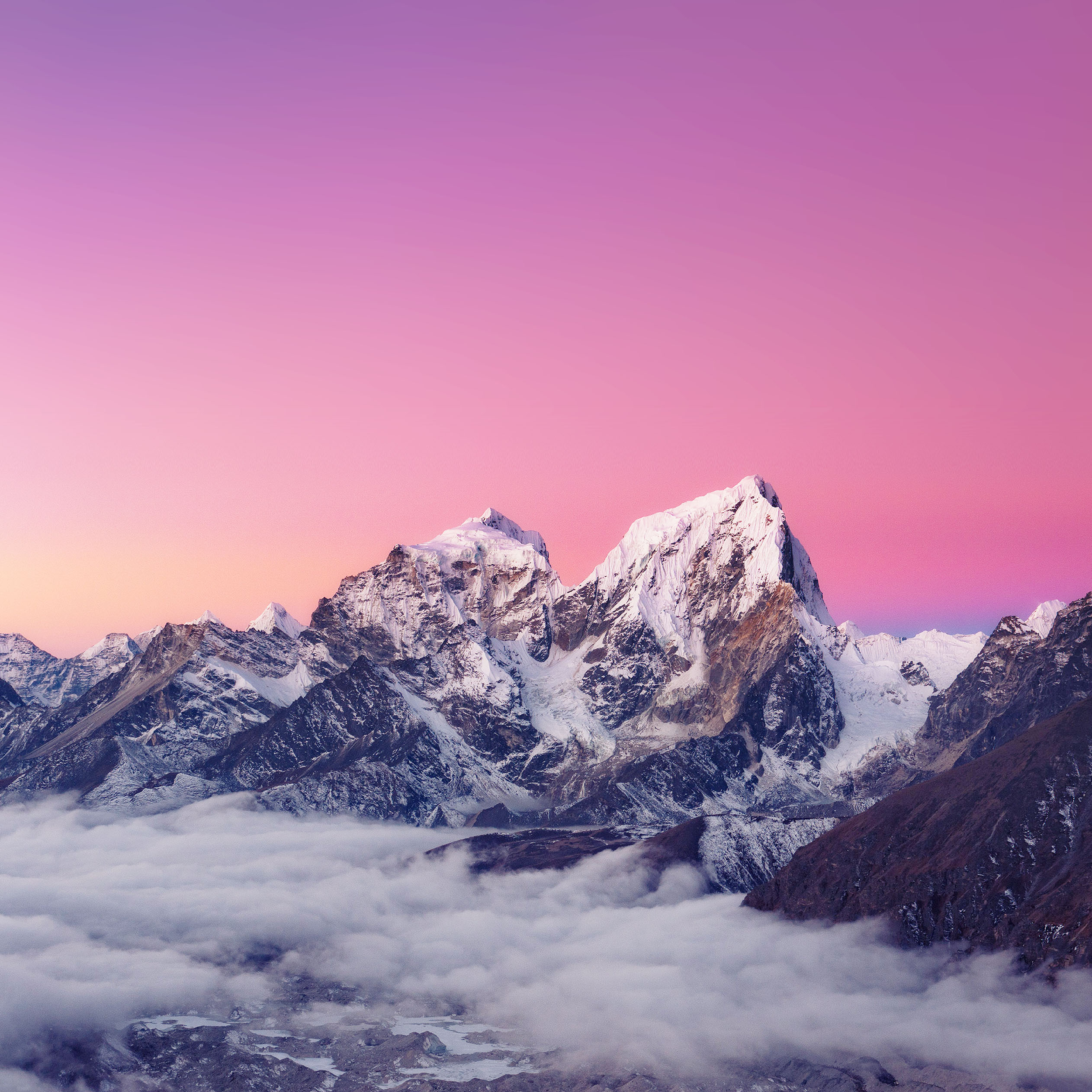 pink snow mountain wallpaper - photo #16