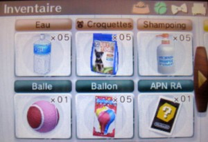 Nintendogs + cats - inventaire 1