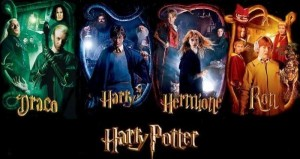 Harry Potter - harry, ron, hermione, drago