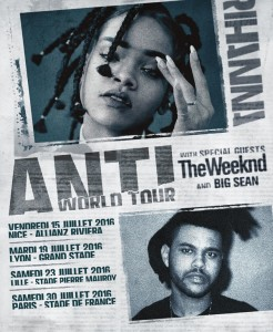 Rihanna - anti world tour - affiche
