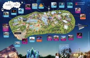 futuroscope - plan des attractions