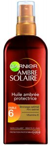 protection solaire - huile faible protection