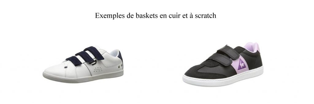baskets - cuir et scratch