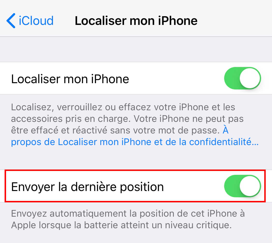 Localiser Un Iphone Eteint