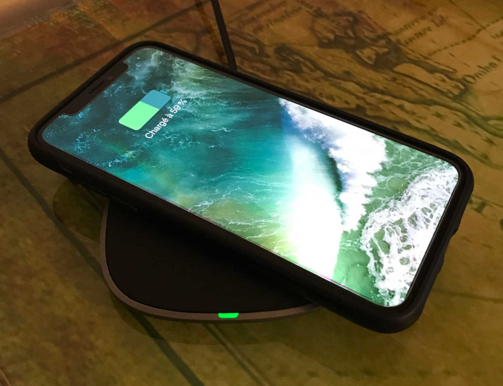 Test du chargeur Qi 5W graphite LC-C5 Aukey pour iPhone X et iPhone 8