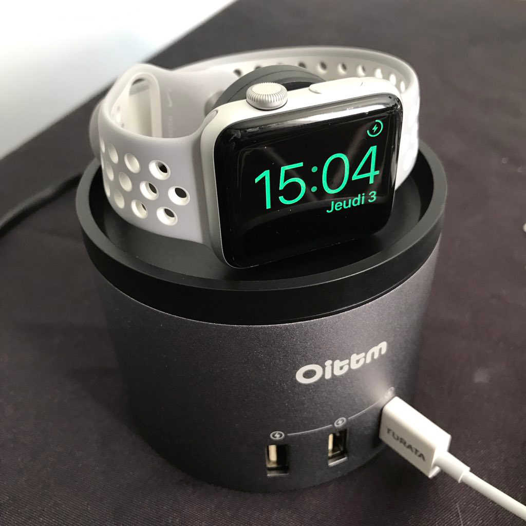 Test de la station de recharge iPhone et Apple Watch plus 3 ports USB Oittm
