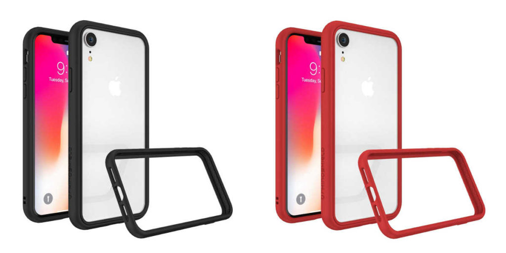 coque iphone xr transparente bord couleur