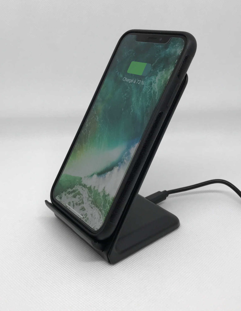 Test du support et chargeur Qi Choetech 10W compatible 7,5W iPhone